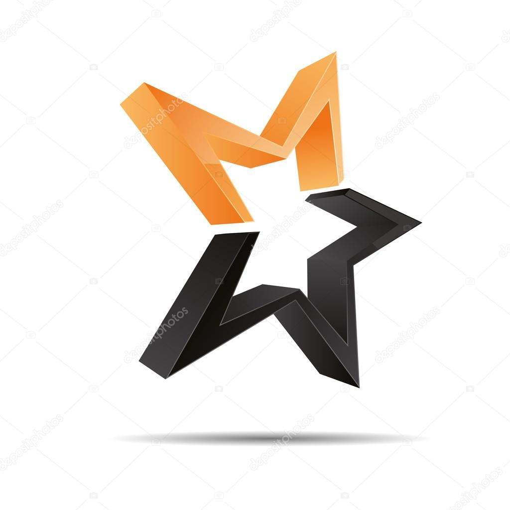 3d Abstract Shooting Star Starlets Starfish Symbol Corporate Design