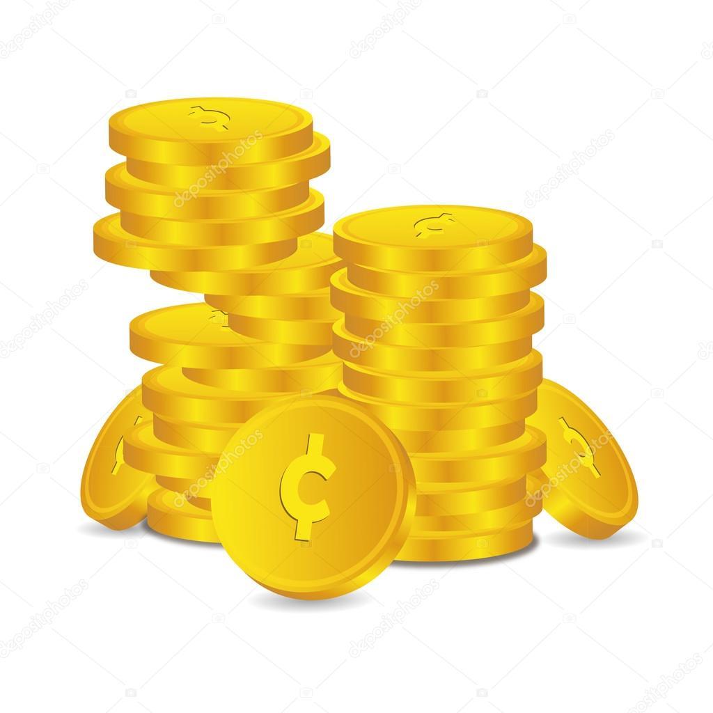 Credit Coin: Bank Credit Coin Capital Credits Gold Money Tal € Vector