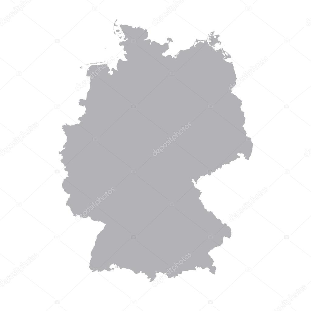 Germany Regions Card Map Vector Geo Map Brd Federal Republic Of - Germany map vector