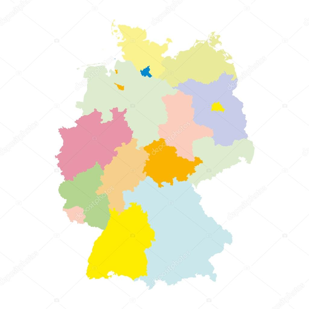 Map Of Germany Regions.Germany Regions Card Map Vector Geo Map Brd Federal Republic Of