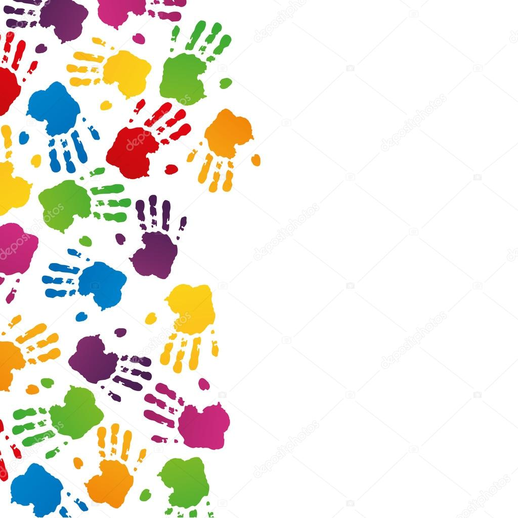 Handabdruck Fussabdruck Fingerabdruck Vektor Hand Kidshand Stempel