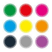 Fotografie Abzeichen-Abzeichen Shop Kollektion Werbung Plakat Aufkleber Label Web Aktion der Schaltfläche festlegen