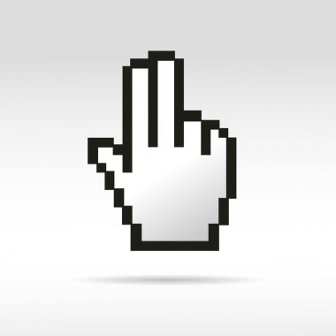 Click to show mouse pointer mouse hand sign business social network internet link button
