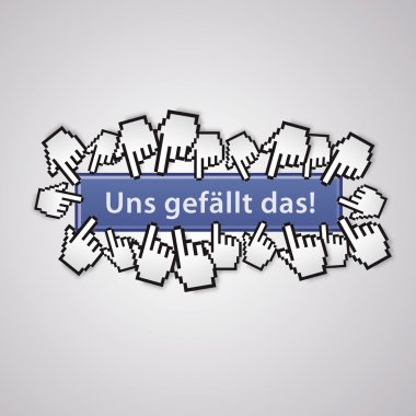 uns gefällt das community group mauszeiger social network business internet link like me