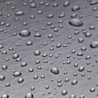 Beading nanotechnology lotuseffekt metal seal rain water drops roll off h2o surface