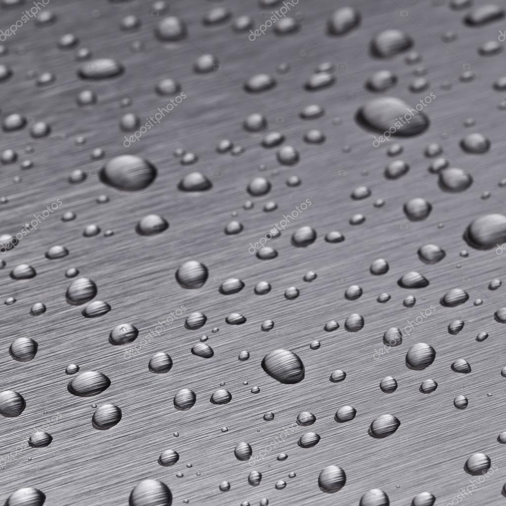 Beading nanotechnology lotuseffekt metal seal rain water drops roll off h2o surface