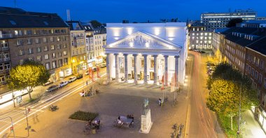 Theatre aix-la-chapelle City Music Acting tourism night dawn long time exposure