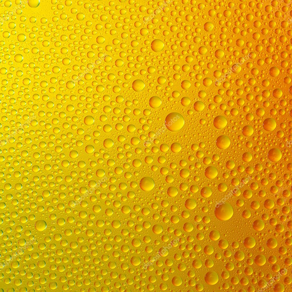 Water drops spectral gradient orange yellow gold beer sun colors rainbow colorful beading lotuseffekt tau sealing