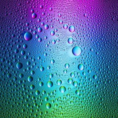 Waterdrops spectral gradient blue purple green ocean colors rainbow colorful beading lotuseffekt tau sealing