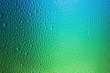 Water drops spectral gradient blue green ocean colors rainbow colorful beading lotuseffekt tau sealing