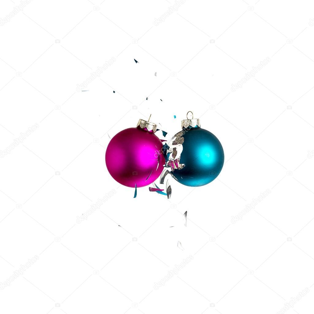 Weihnachtsbaum Explodiert.Kugel Weihnachtsbaum Ornament Weihnachtsdekoration Blau Rosa