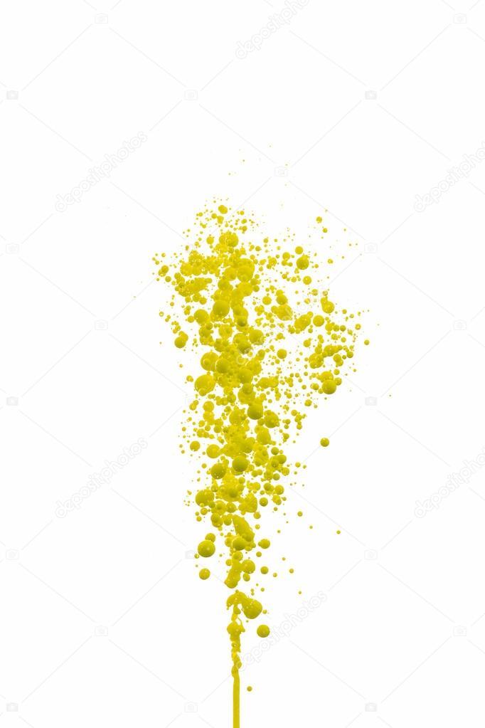Öl gelbe Farbe Kugeln Blasen Drucken Cmyk Farbe Modell Druckerei ...