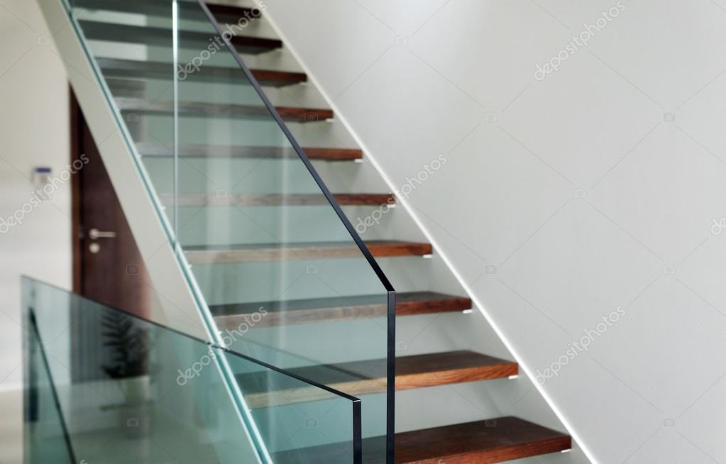 hardened glass balustrade in house