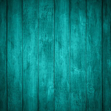 Turquoise wooden background or color planks texture stock vector