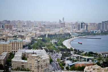 Panorama of the Baku bay