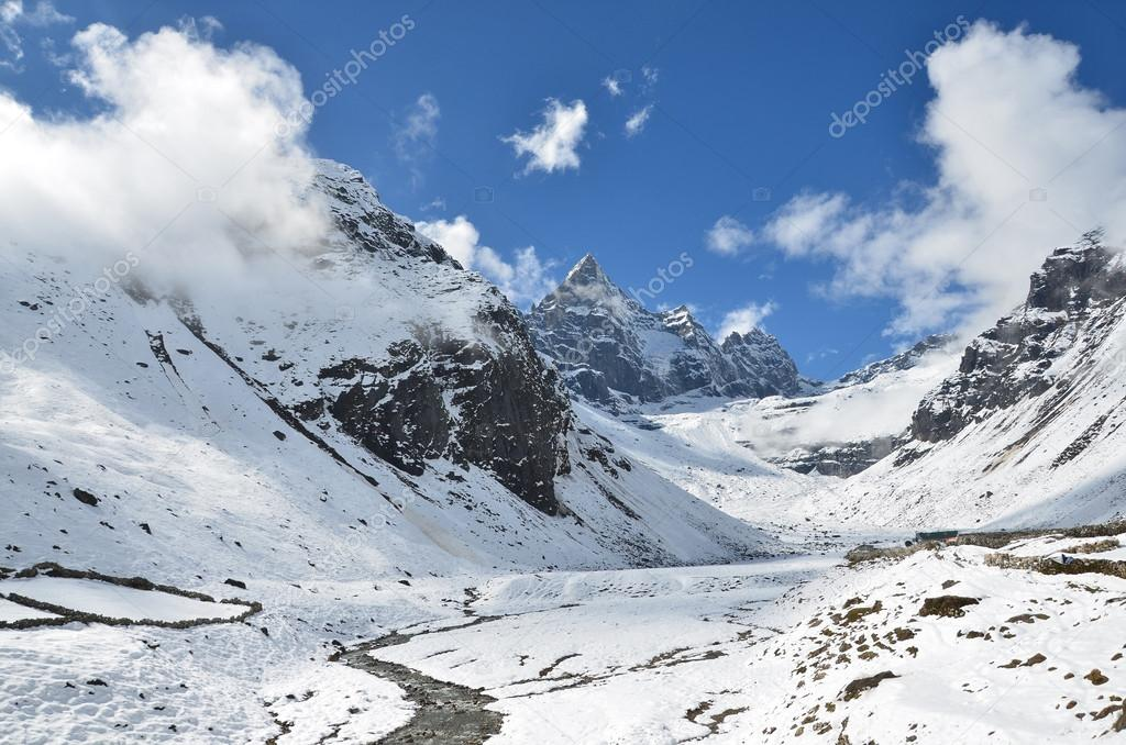 Nepal Himalayas Mountain Landscape At An Altitude Of Meters - Sea level altitude