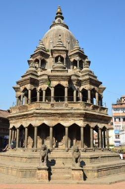 Nepal, Patan, the Stone Temple of Krishna Mandir at Durbar square