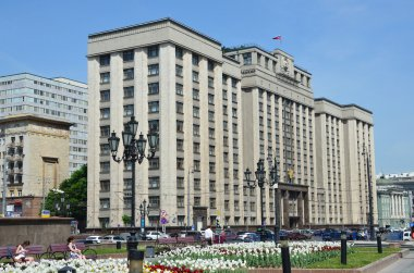 The building of the State Duma of the Russian Federation in Moscow