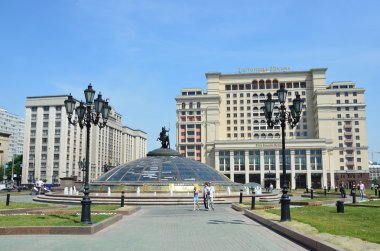 The building of the State Duma of the Russian Federationand hotel Moscow