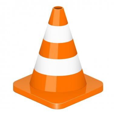 Vector illustration of traffic cone