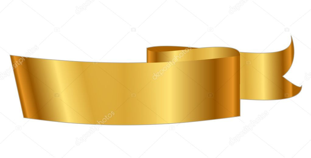 vector illustration of gold ribbon stock vector yuliaglam 12313050