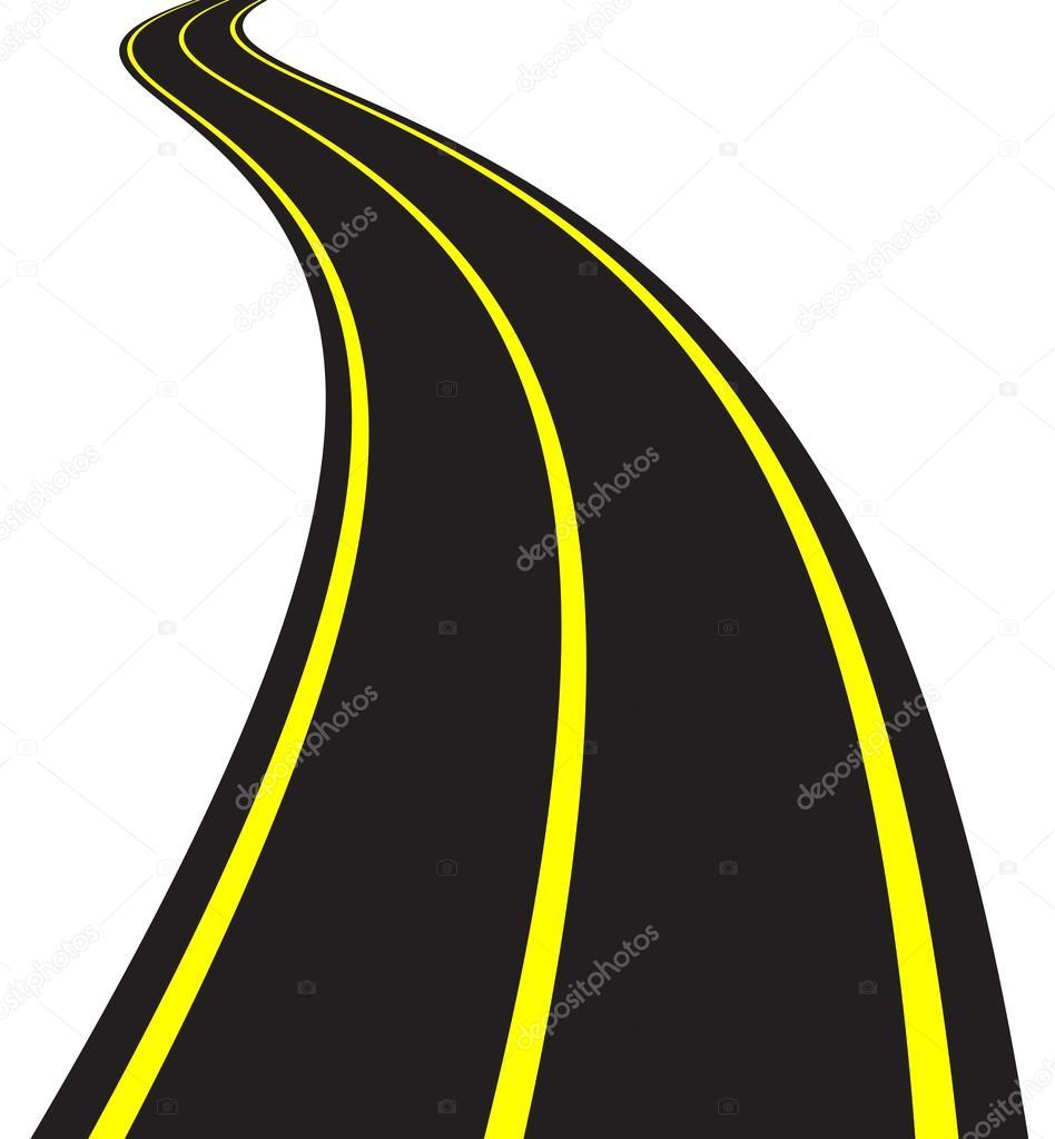 Curving Road Clip Art at Clker.com - vector clip art online, royalty free &  public domain