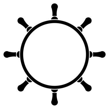 Vector illustration of steering wheel