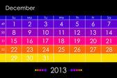 Fotografie Vector calendar 2013 - December