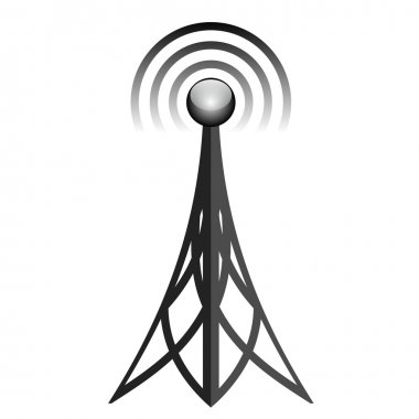 Vector illustration of antenna