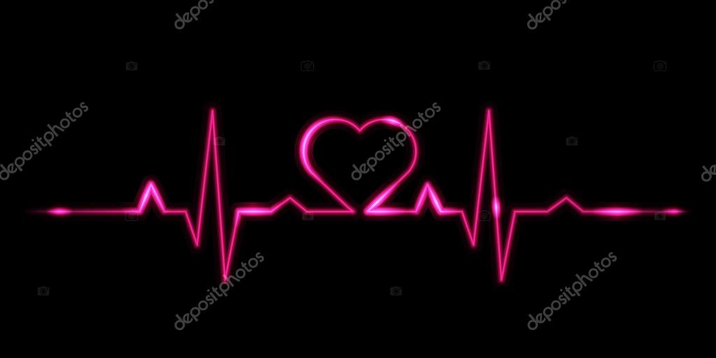 Cardiogram of love - vector illustration