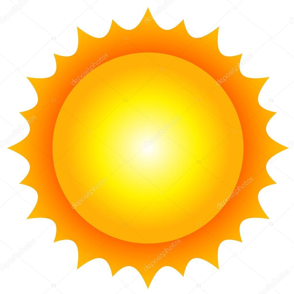 Vector illustration of sun