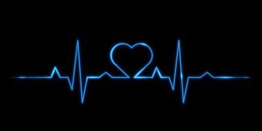 Vector - Cardiogram of love stock vector