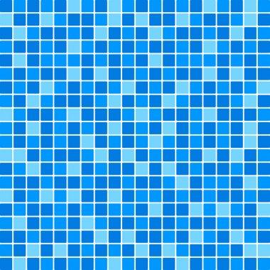 Vector blue tile wall clip art vector