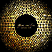 Photo Vector gold disco lights frame