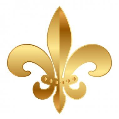 Vector gold Fleur-de-lis ornament clip art vector