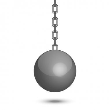 Vector illustration of wrecking ball