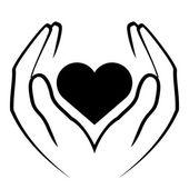 Fényképek Vector icon - kezei szív
