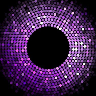 Vector disco lights purple frame