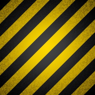 Vector background - black and yellow hazard stripes