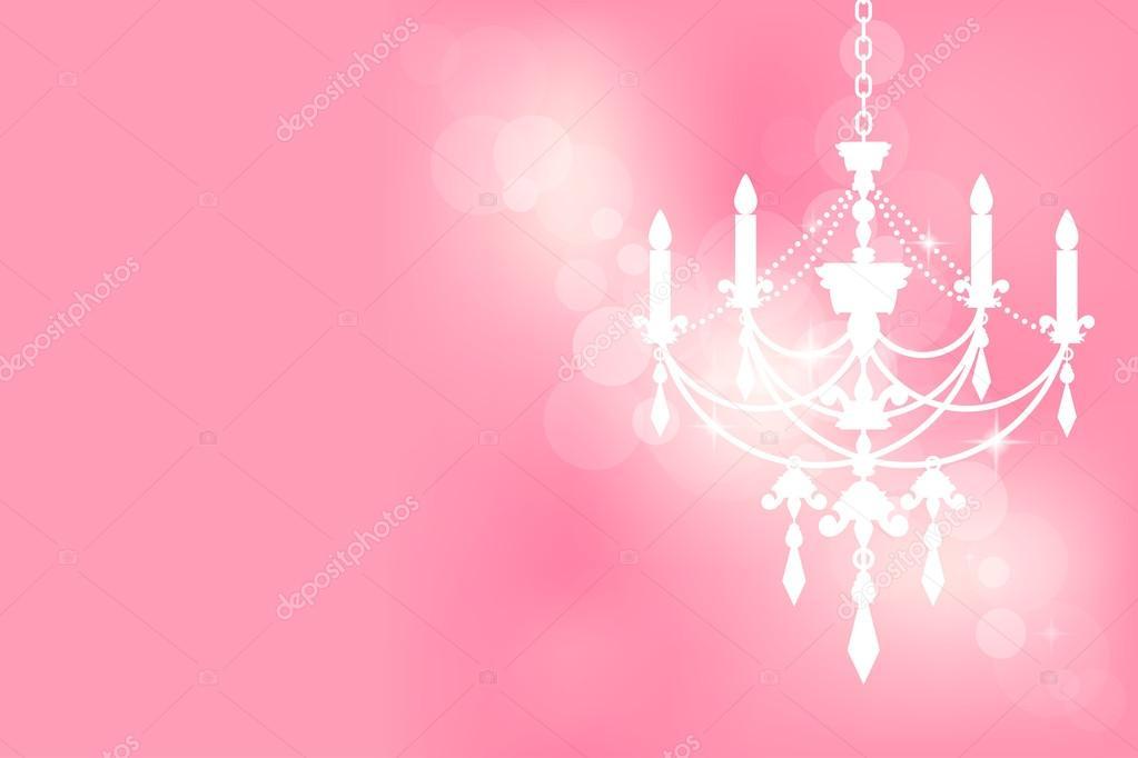 Kronleuchter Pink ~ Vektor rosa karte mit kronleuchter u stockvektor yuliaglam