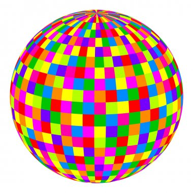 Vector illustration of colorful ball