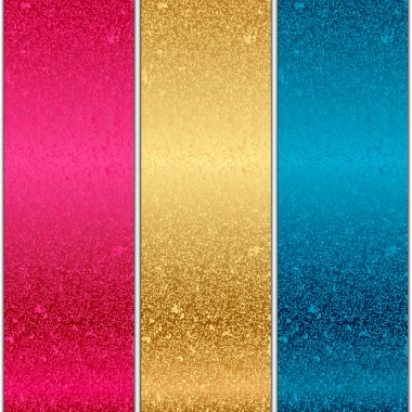 Vector colorful metal textures