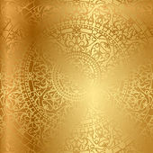 Photo Vector gold background with oriental decoration