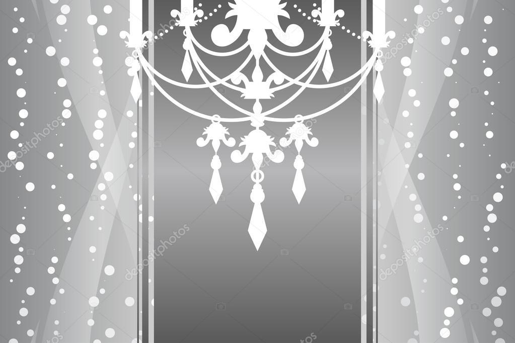 Vektor Silber Rahmen mit Kronleuchter — Stockvektor © yuliaglam ...