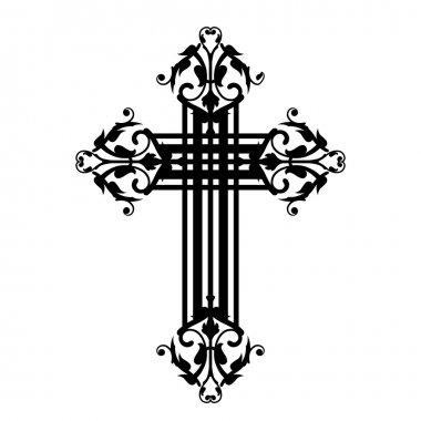 Vector illustration of vintage cross