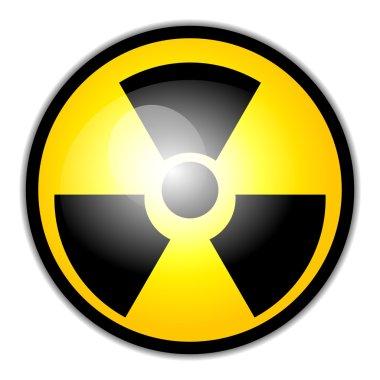Vector radiation warning symbol
