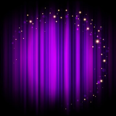 Vector purple stage background with lights