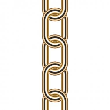 Vector illustration of gold chain