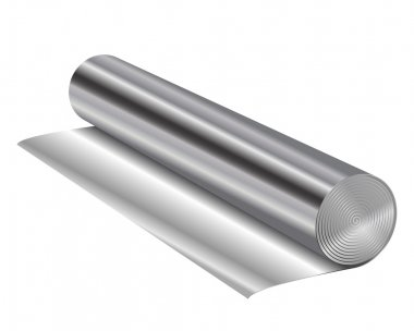 Vector illustration of aluminum foil