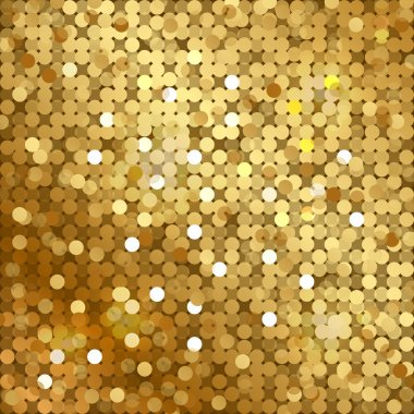 Vector gold background with sequins
